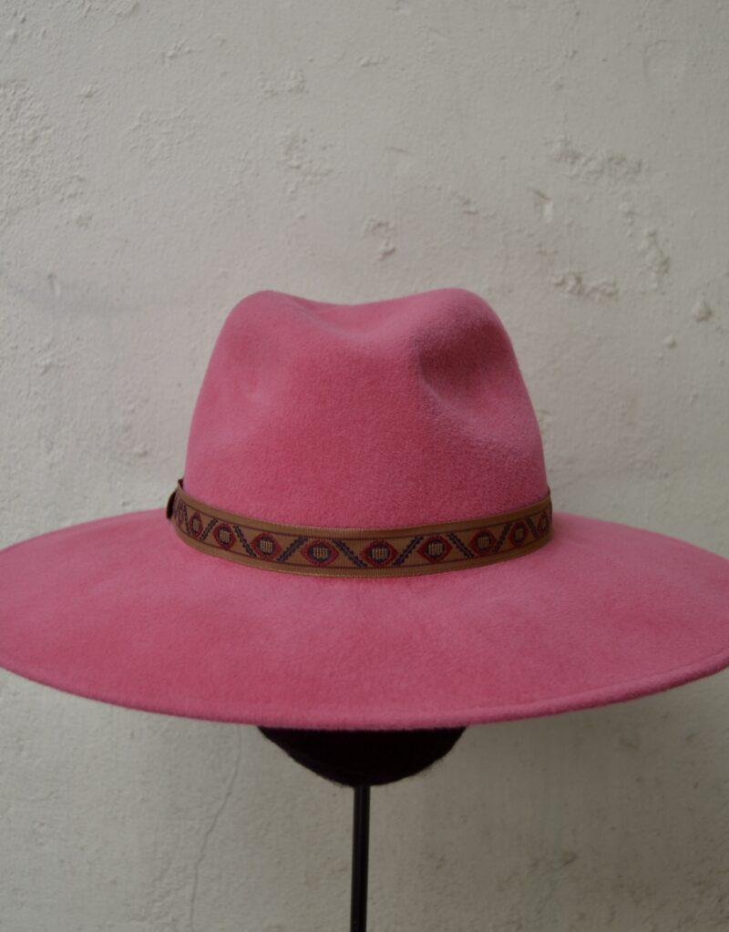 pink fedora dames hoed