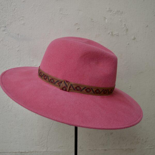 Fedora pink dames hoed