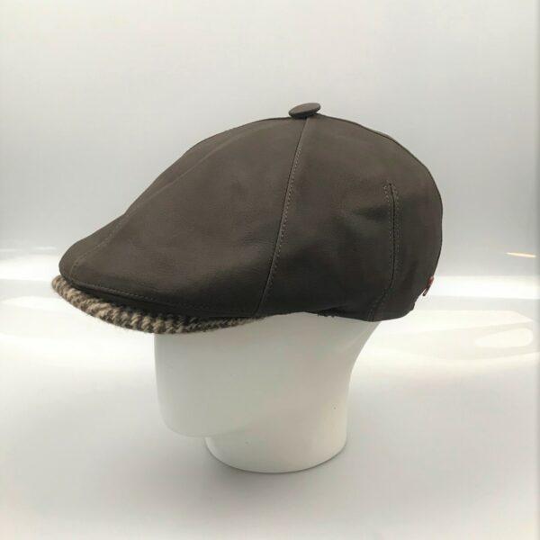 Lederen flatcap